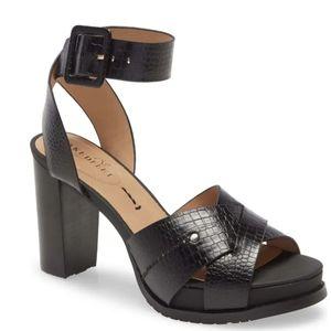 Naked Feet Ciro Block Heel Sandal Black Size 7